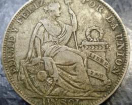 1930 Peru Silver Sol (.500, type 4)   CO1500