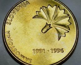 Slovenia 5 Tolarjev 1996 (Independence) KM#32 RARE!!!!