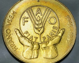Slovenia 5 Tolarjev 1995 F.A.O KM#21 RARE!!!