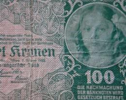 Austria Hungary 100 Kronen ,1922, P-77