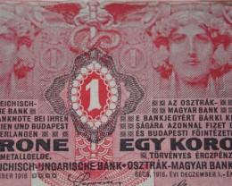 Austria Hungary 1 Krone (Korona) 1916