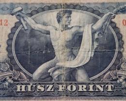 Hungary Húsz (20) Forint 1965 Dózsa György