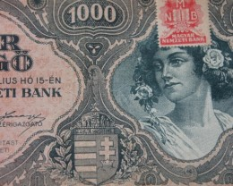 Hungary Ezer (1000) Pengő 1945. Pick 118 (MNB stamp)