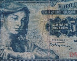 Yugoslavia 500 Dinara 1955 Beograd