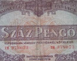 Hungary Száz (100) Pengő 1944 RED ARMY
