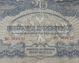 Hungary Húsz (20) Pengő 1944 (RED ARMY)