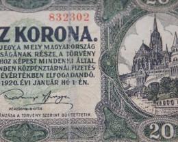 Hungary Húsz (20) Korona 1920