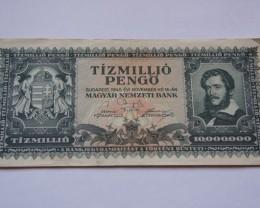 Hungary Tízmillió (10.000.000) Pengő 1945