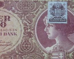 Hungary Tízezer (10.000) Pengő 1945 (MNB stamped)