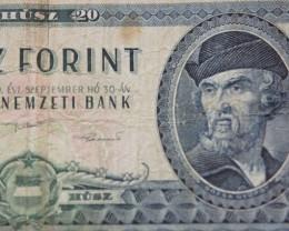 Hungary Húsz (20) Forint 1980 Dózsa György