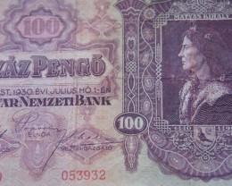 Hungary Száz (100) Pengő 1930
