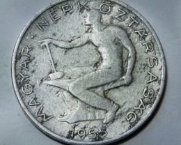 Hungary 50 Fillér 1953 RARE +++ KM#551