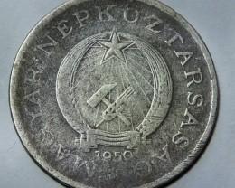 Hungary 2 Forint, 1950 Rare KM#548