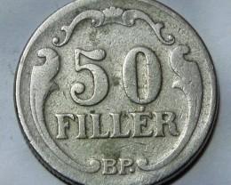 Hungary 50 Fillér 1926 KM#509 RARE++++++