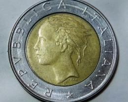Italy 500 Lire Bi-Metal 1982 KM#111