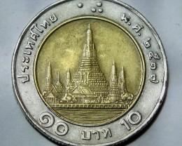 Thailand 10 Baht-Rama IX (Wat Arun) 2537 (1994) Y#227
