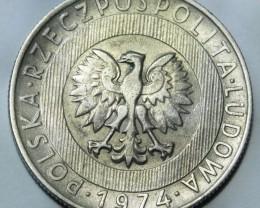 Poland 20 Zlotych 1974 Y#67