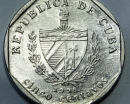 Cuba 5 Centavos 1998 KM#575