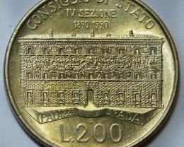Italy 200 Lire 1999 KM#135