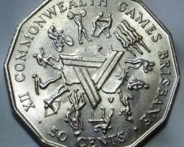 Australia 50 Cents (Commonwealth Games) 1982 KM#74