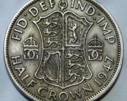 United Kingdom 1/2 Crown-George VI: 1947 KM#866