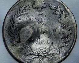 Italy 5 Centesimi-Vittorio Emanuele II.  1861 N KM#3 damaged