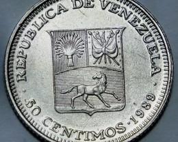 Venezuela 50 Céntimos  1989 Y#41a