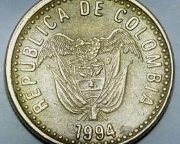 Colombia 20 Pesos 1994 KM#282