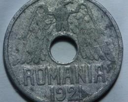 Romania 50 Bani 1921 KM#45 RARE++++
