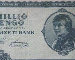 Hungary Százmillió (100.000.000) Milpengő 1946
