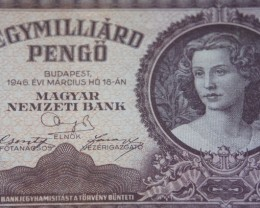 Hungary Egymilliárd (1.000.000.000) Pengő 1946. Pick 125
