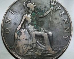 United Kingdom 1 Penny-George V. 1912 H KM#810 RARE!