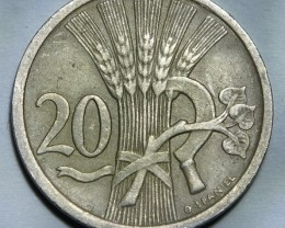 Checholslovakia 20 Haléru 1931 KM#1