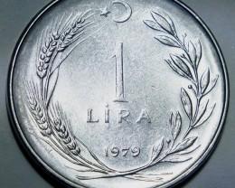 Turkey 1 Lira 1979 KM#889a