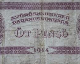 Hungary Öt (5) Pengő 1944 (RED ARMY)