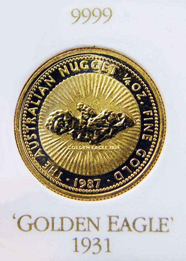 1987 gold nugget coin Golden eagle 1931