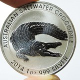 crocodile silver coin
