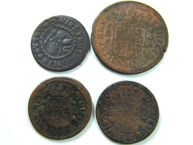 Spanish coins 17-18th century Philip II