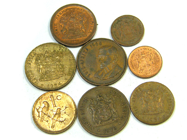 PARCEL 8 MIXED SOUTH AFRICAN COINS   J11