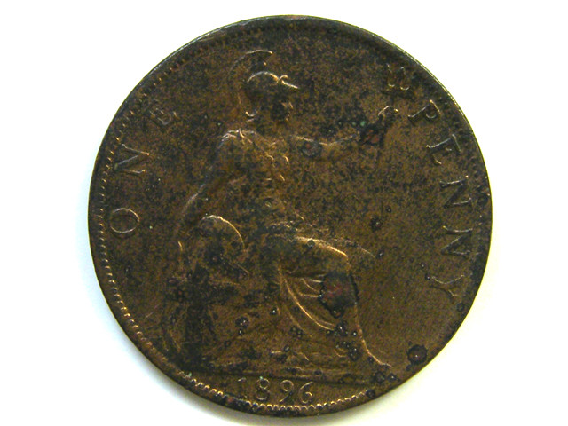 ONE PENNY COIN  1896   J 39
