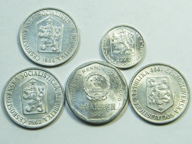 PARCEL 5 ALUMINIUM CHECK COINS J 55