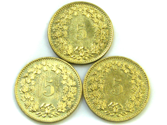 PARCEL3 FIVE CEMES SWISS COINS    1981 J85