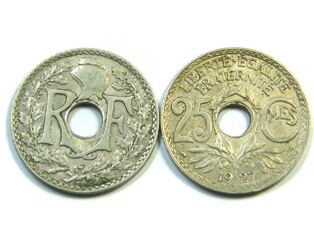 PARCEL  2  X 25  CMES COINS    1927-1931J57