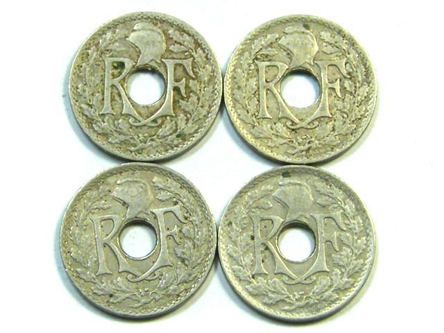 PARCEL 4   X 5 CMES COINS  1917-1920  J 60