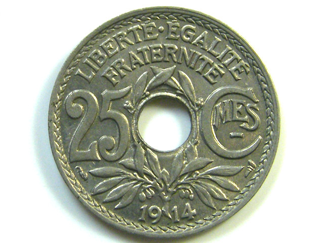25 CMES COIN  1914      J 61