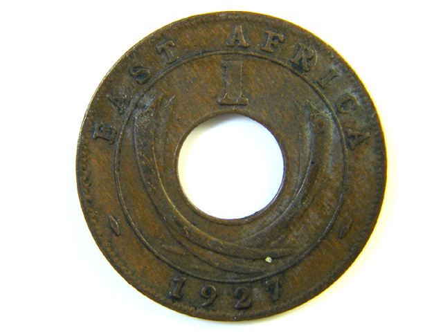 BRITISH EAST AFRICA 1 CENT 1927  J 118