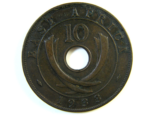 BRITISH EAST AFRICA 10 CENTS 1933   J 125