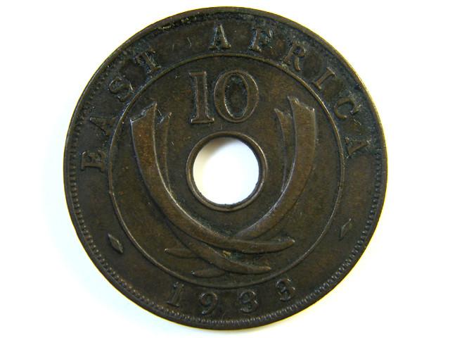BRITISH EAST AFRICA 10 CENTS 1933   J 125