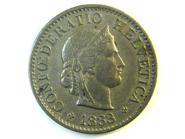 5 FR SWITZERLAND  COIN 1883    J136