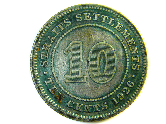 10 CENTS STRAITS SETTLEMENT 1926   J 142